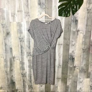 Gap Soft-spun Striped Twist Knot Midi Dress